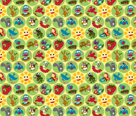 Early Bird & Co. Breakfast (small) fabric by fussypants on Spoonflower - custom fabric