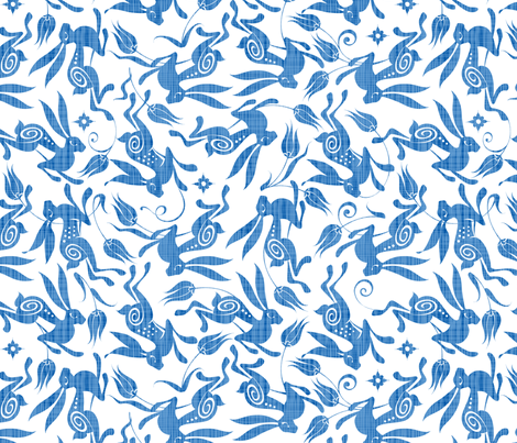 Mid Blue Tulip fabric by spellstone on Spoonflower - custom fabric