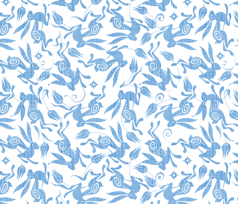 Pale Blue Tulip fabric by spellstone on Spoonflower - custom fabric