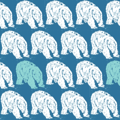 Polar Bear fabric by woodle_doo on Spoonflower - custom fabric