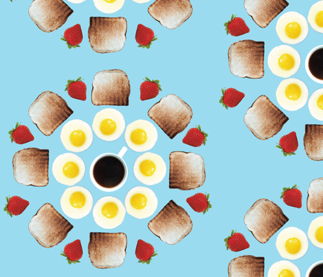 part of a balanced breakfast fabric by nicolefiori on Spoonflower - custom fabric