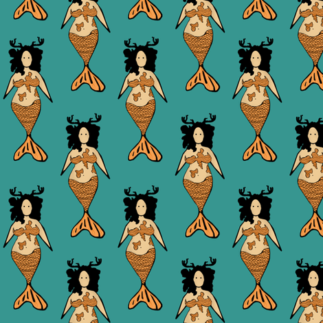 Nymph 2 fabric by pond_ripple on Spoonflower - custom fabric