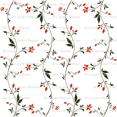 1750-70 Floral Stripe