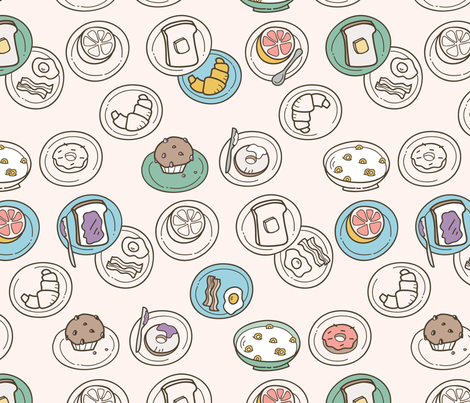 Breakfast Buffet fabric by auki on Spoonflower - custom fabric