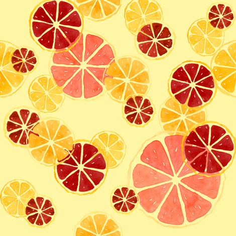 Juicy_Citrus fabric by meduzy on Spoonflower - custom fabric