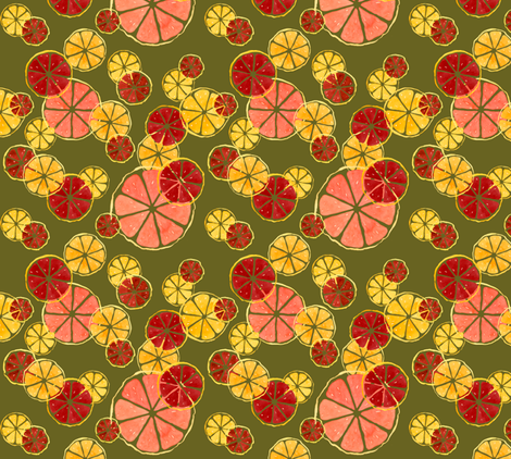 Citrus_Olive fabric by meduzy on Spoonflower - custom fabric