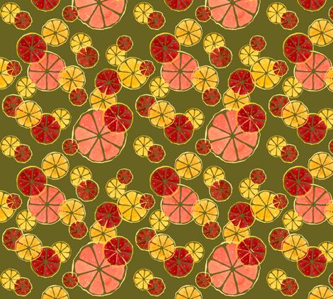 Citrus_Olive fabric by meduzy on Spoonflower - custom fabric