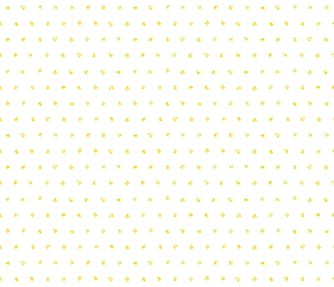 1780 Tiny Yellow Floral Sprig fabric by americanduchess on Spoonflower - custom fabric