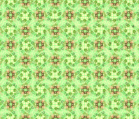Tangled Leprechaun Hats & Clovers fabric by rachel_alice on Spoonflower - custom fabric