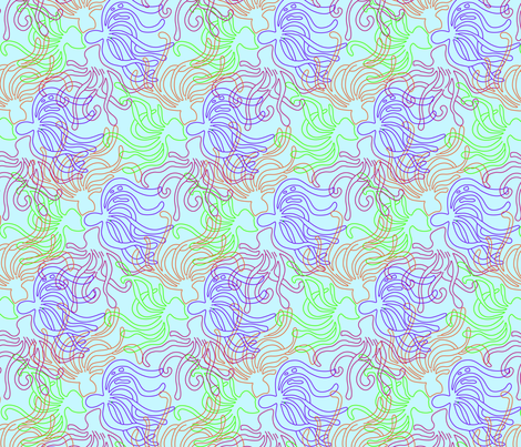 Squid Family fabric by rachel_alice on Spoonflower - custom fabric