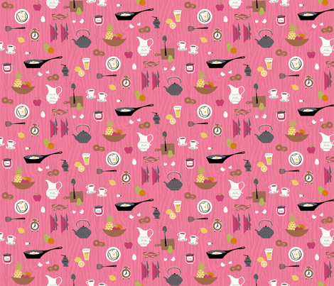 Retro Breakfast fabric by minimiel on Spoonflower - custom fabric