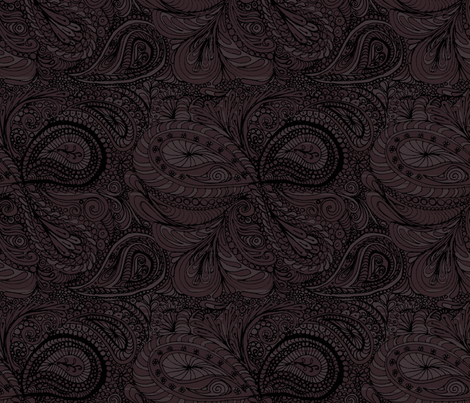 dark_chocolate_paisley fabric by wiccked on Spoonflower - custom fabric