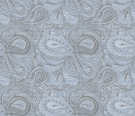 faded_denim_paisley fabric by wiccked on Spoonflower - custom fabric