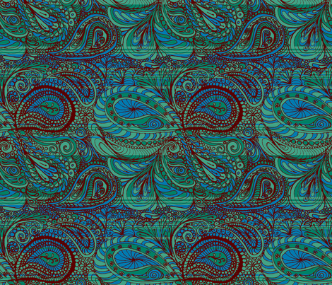 ocean_paisley fabric by wiccked on Spoonflower - custom fabric