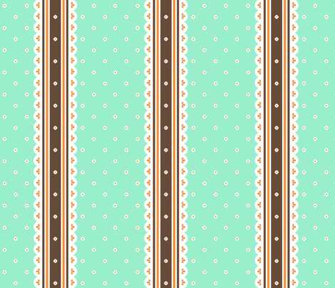 Chocolate Ribbon - Peppermint fabric by inscribed_here on Spoonflower - custom fabric