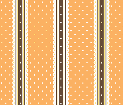 Chocolate Ribbon - Orange fabric by inscribed_here on Spoonflower - custom fabric