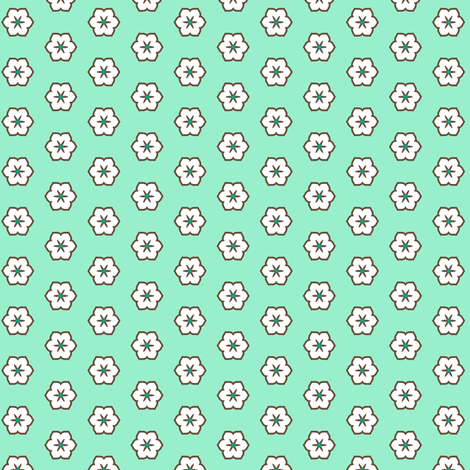 White Chocolate Floral - Peppermint fabric by inscribed_here on Spoonflower - custom fabric