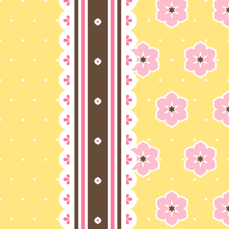 Chocolate Border Ribbon - Banana fabric by inscribed_here on Spoonflower - custom fabric