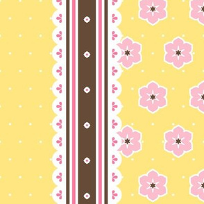 Chocolate Border Ribbon - Banana