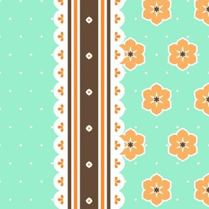 Chocolate Border Ribbon - Peppermint