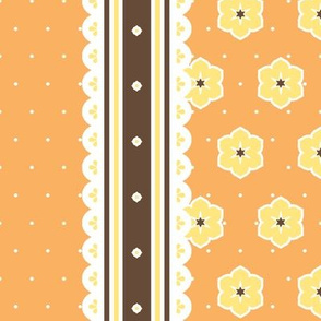 Chocolate Border Ribbon - Orange