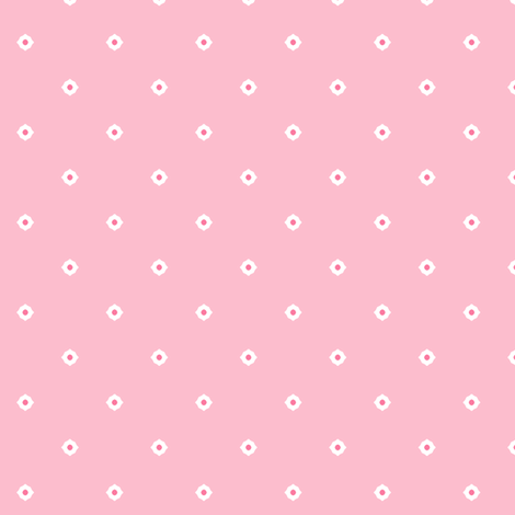 Dot Floral - Fairy Floss fabric by inscribed_here on Spoonflower - custom fabric
