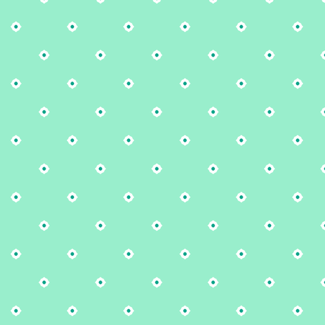 Dot Floral - Peppermint fabric by inscribed_here on Spoonflower - custom fabric