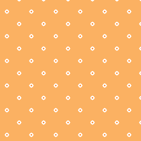 Dot Floral - Orange fabric by inscribed_here on Spoonflower - custom fabric