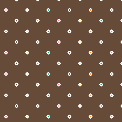 Dot Floral - Chocolate Mix fabric by inscribed_here on Spoonflower - custom fabric