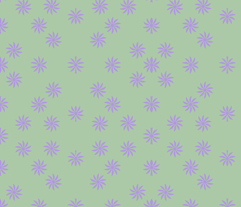 Small Print Lilac Flowers fabric by sew_delightful on Spoonflower - custom fabric
