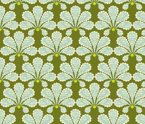 Olive Flowers fabric by natitys on Spoonflower - custom fabric