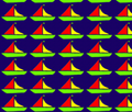 Boats Childrens pattern sketch, yellow, blue,orange, green