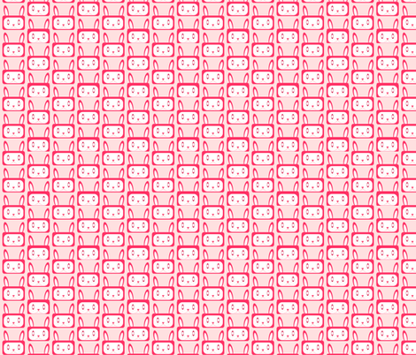 Bunnies - Repeat - Pinks fabric by jesseesuem on Spoonflower - custom fabric