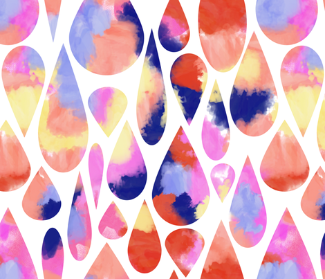 watercolor drops fabric by domesticate on Spoonflower - custom fabric