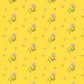 1780 Yellow Chinese Style Print