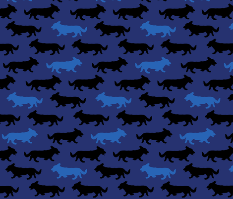 Blue Camo Cardigans fabric by rusticcorgi on Spoonflower - custom fabric