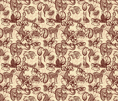 PaisleyTwo2011 fabric by nikky on Spoonflower - custom fabric