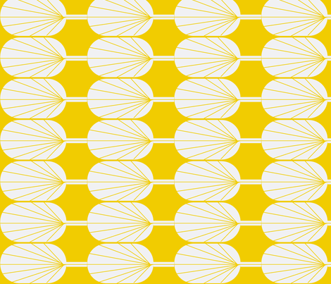Fanpod gold and white fabric by ninaribena on Spoonflower - custom fabric