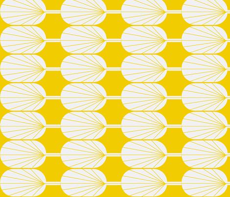 Fanpod gold and white fabric by ninaribena on Spoonflower - custom fabric