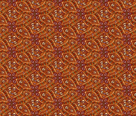 Busy cells (orange) fabric by tallulah11 on Spoonflower - custom fabric