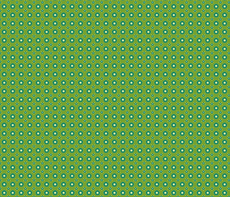 fleurette_cerclé_vert_anis fabric by nadja_petremand on Spoonflower - custom fabric