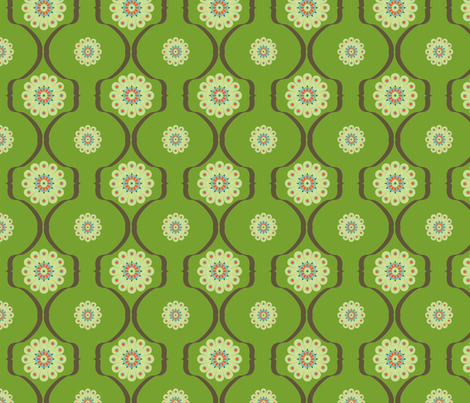 graphique_flower_vert fabric by nadja_petremand on Spoonflower - custom fabric