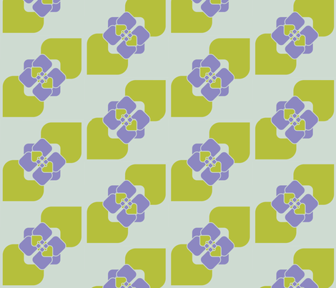 geometric_flowers3 fabric by sary on Spoonflower - custom fabric