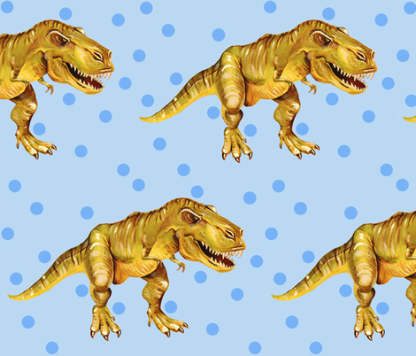 T Rex Attack!! fabric by taraput on Spoonflower - custom fabric