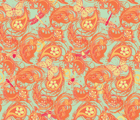 In the Paisley Garden fabric by jmckinniss on Spoonflower - custom fabric