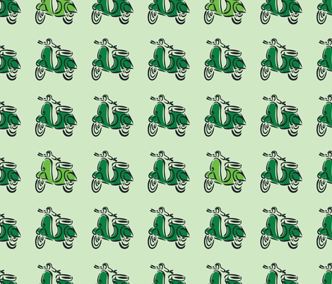 Born to be Mild (green) fabric by studiofibonacci on Spoonflower - custom fabric