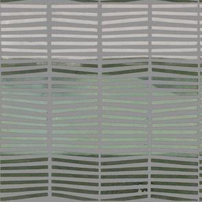 Stripes_Green on Grey