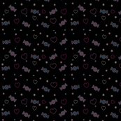 Unicorn Fantasy Candy Repeat Black