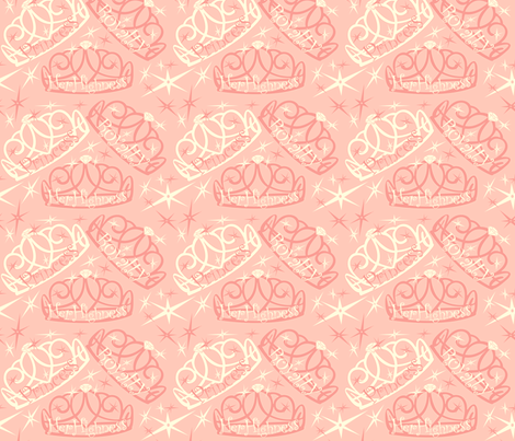 Tiara in pink fabric by twobloom on Spoonflower - custom fabric