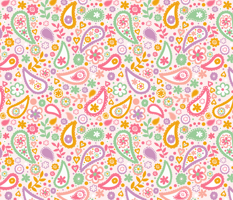 paisley8_x8_swatch fabric by bubble&tweet on Spoonflower - custom fabric